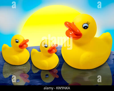 Rubber Duck Family - Stock Image