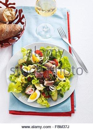 Salade niçoise - Stock Image