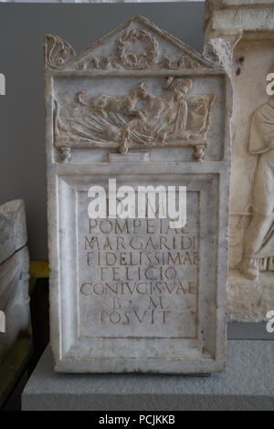 roman grave marker  stele - Stock Image
