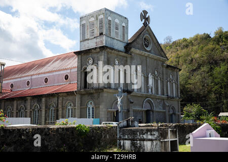 A church in St Lucia, The Caribbean - Stock Image