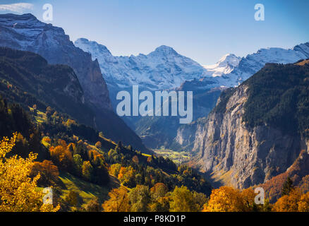 Lauterbrunnen Valley - Stock Image