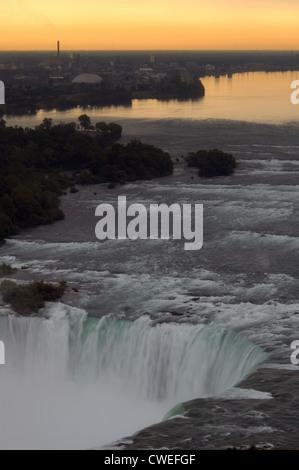 Niagara Falls at Dawn - Stock Image