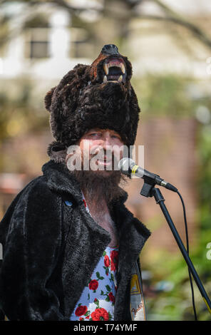 Brighton UK 4th May 2019 - Performers at the Brighton Festival Fringe 'Streets of Brighton' event in the city centre on the opening day. Credit: Simon Dack / Alamy Live News - Stock Image