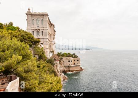 LE TEMPLE DE LA MER, Musee Oceanographique de Monaco - Stock Image