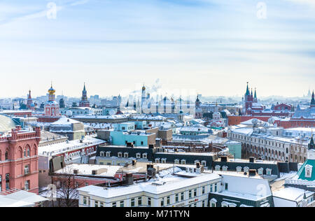 View over center of Moscow. Moscow, Russia. - Stock Image