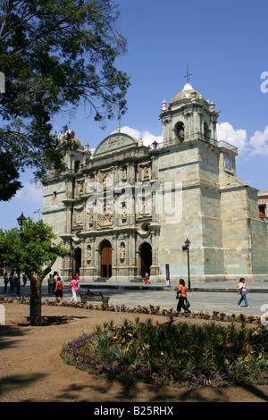 Oaxaca Cathedral, Oaxaca City, Oaxaca State, Mexico. - Stock Image