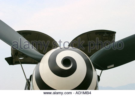 Zeltweg 2005 AirPower 05 airshow Austria German Luftwaffe Messerschmitt Me 109 G 4 frontal close up view - Stock Image
