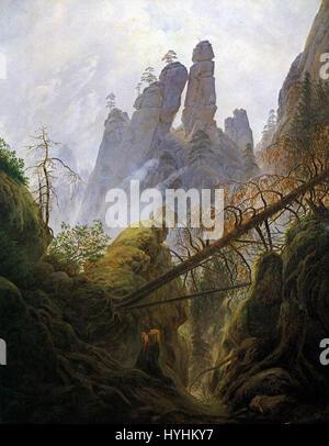 Caspar David Friedrich   Rocky Ravine   WGA8269 - Stock Image