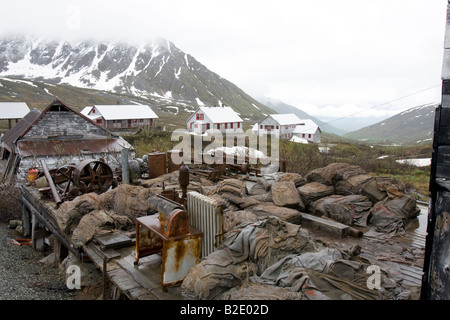Abandoned Independence mine at Hatcher pass, Alaska, USA - Stock Image