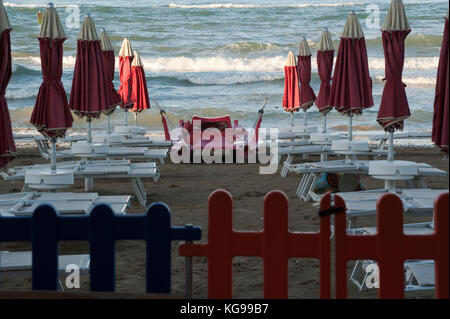 Beach on september - Stock Image
