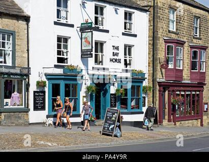 The Bay Horse pub, Masham, North Yorkshire, England UK - Stock Image