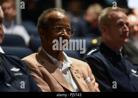 Retired Air Force Lt. Gen. Russell Davis, former chief of the National Guard Bureau, at the National Guard Association of the United States 140th General Conference, New Orleans, Louisiana, Aug. 26, 2018. (U.S. Army National Guard photo by Sgt. 1st Class Jim Greenhill) - Stock Image