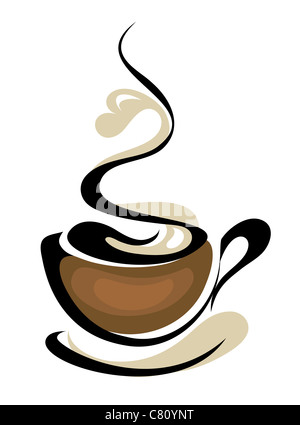coffee logo - Stock Image