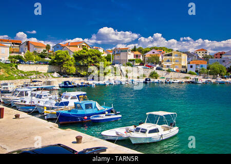Brodarica village on Adriatic sea, Sibenik archipelago of Dalmatia, Croatia - Stock Image