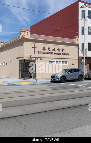 San Francisco True Light Baptist Church, 48th Avenue, San Francisco, California, USA - Stock Image