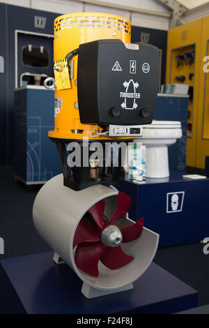 Southampton, UK. 11th September 2015. Southampton Boat Show 2015. A thruster launched today at the show by Vetus - Stock Image