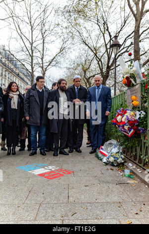 Tribute to victimes of terrorism in Paris France - Stock Image