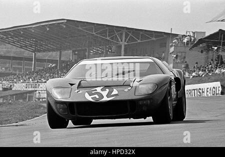 1967 Richard Bond GB Ford GT40 BOAC 500 Brands Hatch 16th - Stock Image