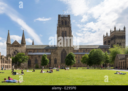 Durham Cathedral Palace Green - Stock Image