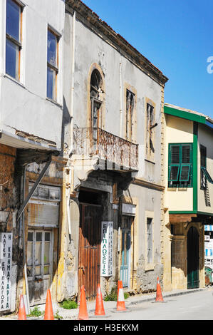 Old derelict property in Nicosia, Cyprus. - Stock Image