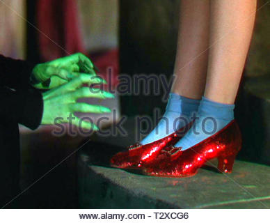DOROTHY'S RUBY SLIPPERS, THE WIZARD OF OZ, 1939 - Stock Image