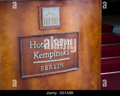 Hotel Adlon Kempinski in Berlin Germany - Stock Image