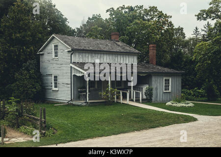 wooden cottage in North America - Stock Image