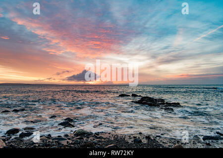 Mousehole, Cornwall, UK. 5th March 2019. UK. Weather. Beautiful start to the day on the coast at Mousehole this morning on St Pirans Day, the Patron Saint of Cornwall. Credit: Simon Maycock/Alamy Live News - Stock Image