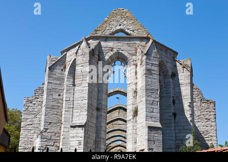 The Saint Catherine Church ruin, Sankta Karin Church, Visby, Gotland, Sweden. Medieval church. - Stock Image