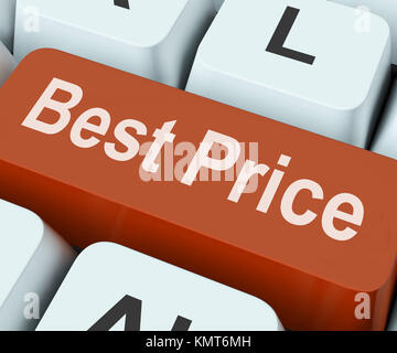 Best Price Key Showing Discount Or Offer - Stock Image