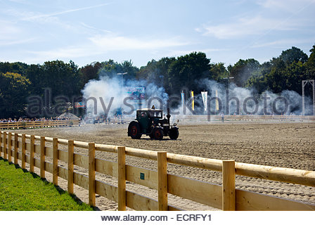 Tractor race preliminary, Oktoberfest, Munich, Germany - Stock Image