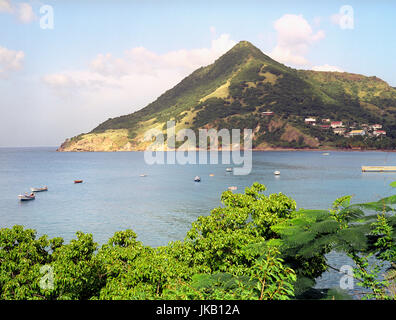 The harbor at Petit Anse. Petit Anse is a small seaside village in Southern Martinique. Petit Anse, Martinique. - Stock Image