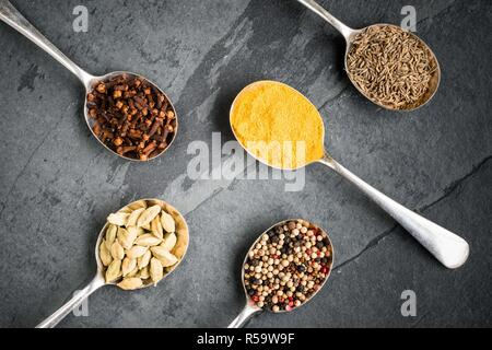 Assorted spices. - Stock Image