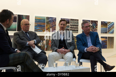 Brian Wilson of Harris Tweed, Glen Hoff, Doug Shriver, Nick Sullivan attend launch of Fashion Sharing Progress - Stock Image