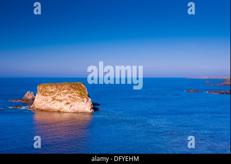 rock shimmering at sunset - Stock Image