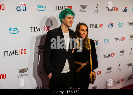 Tyler 'Ninja' Blevins attends TIME 100 GALA on April 23 in New York City - Stock Image