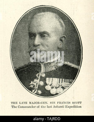 Major-General Sir Francis Cunningham Scott (1834 - 26 June 1902), was a British Army officer, who commanded the Fourth Anglo-Ashanti War 1895-96. - Stock Image
