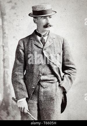 Portrait photograph of Winslow Homer (1836-1910), 1880 by Napoleon Sarony - Stock Image