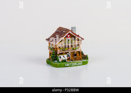 The Swiss chalet model - Stock Image