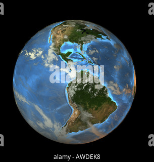Planet earth is the third planet in the solar system - Stock Image