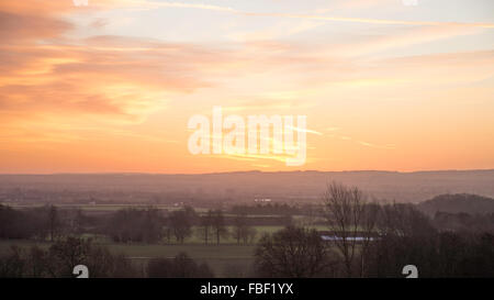 Dawn on a Winter Morning - Stock Image