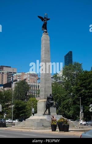 The South African War Memorial in Toronto, Ontario, Canada - Stock Image