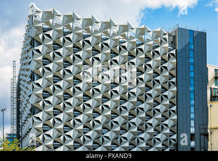 Car park under construction, Stanley Street, New Bailey, Salford, Manchester, England, UK - Stock Image