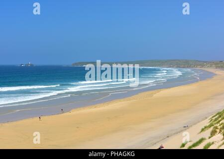 Mexico Towans Beach, Phillack, Hayle,cornwall,England,UK - Stock Image