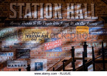 Station Hall National Railway Museum York Yorkshire England - Stock Image
