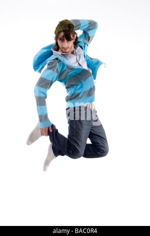 young man in air - Stock Image