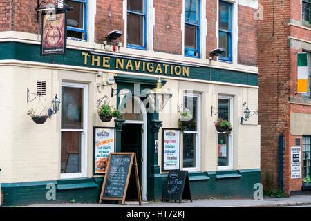 The Navigation Pub in Nottingham UK - Stock Image