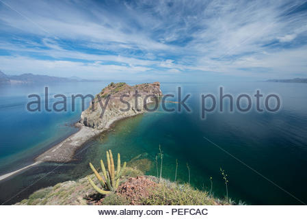Isla Danzante or Dancers Island, part of Loreto Bay National Park. - Stock Image