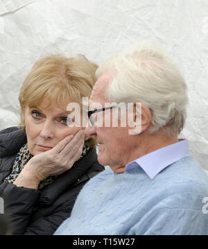 London, UK. 23rd Mar, 2019. Anna Soubry MP for The Independdent Group with Michael Heseltine Conservative former deputy leader getting ready to speak at the People's Vote March and rally, 'Put it to the People.' Credit: Prixpics/Alamy Live News - Stock Image