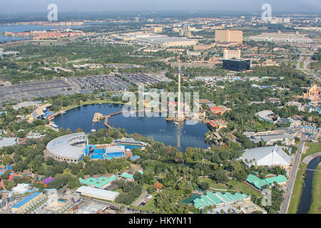 ORLANDO, USA - NOVEMBER 13: Aerial view of the adventure park Sea World Orlando - one of seventh-most visited amusement - Stock Image